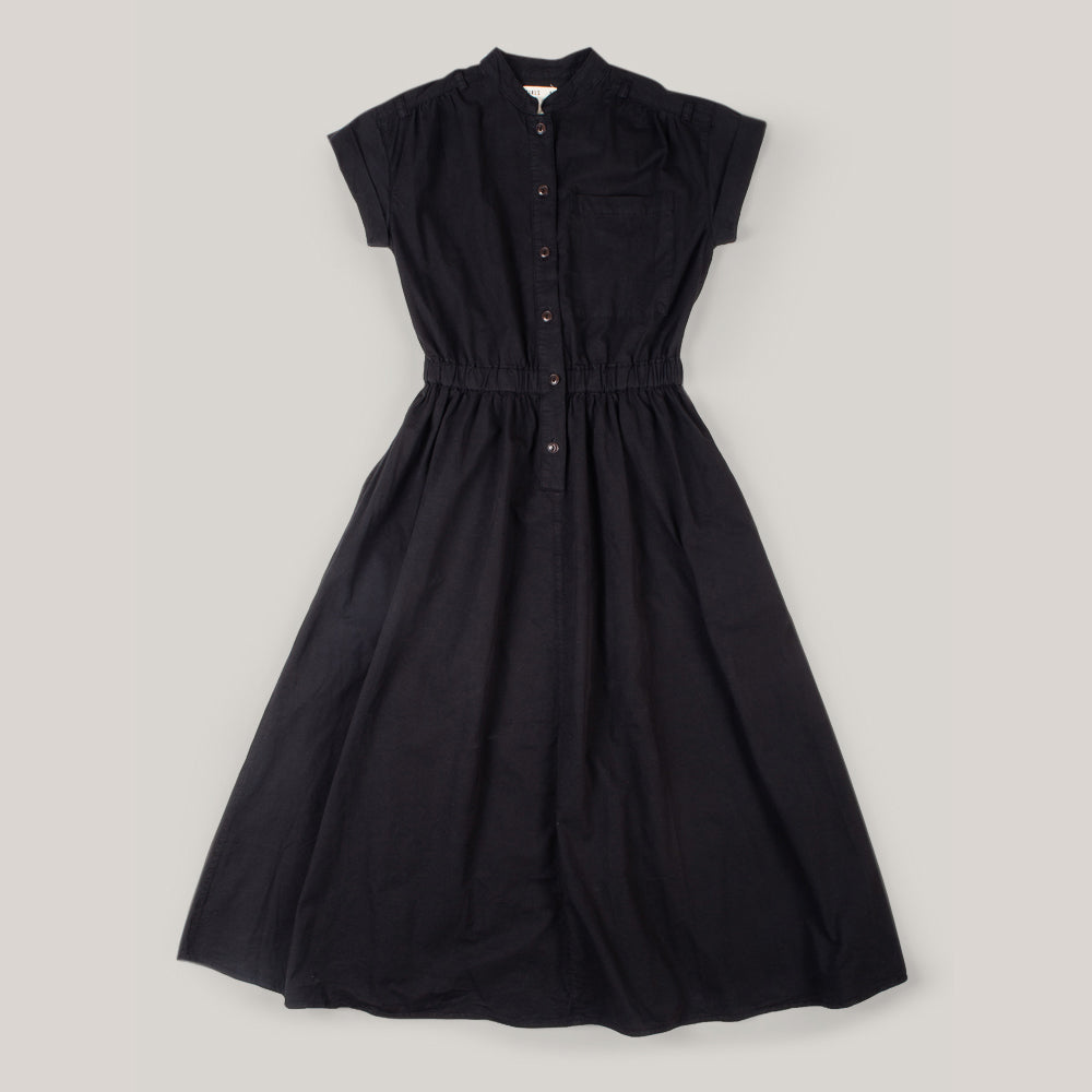 GIRLS OF DUST SERVICE DRESS COTTON DRILL - BLACK