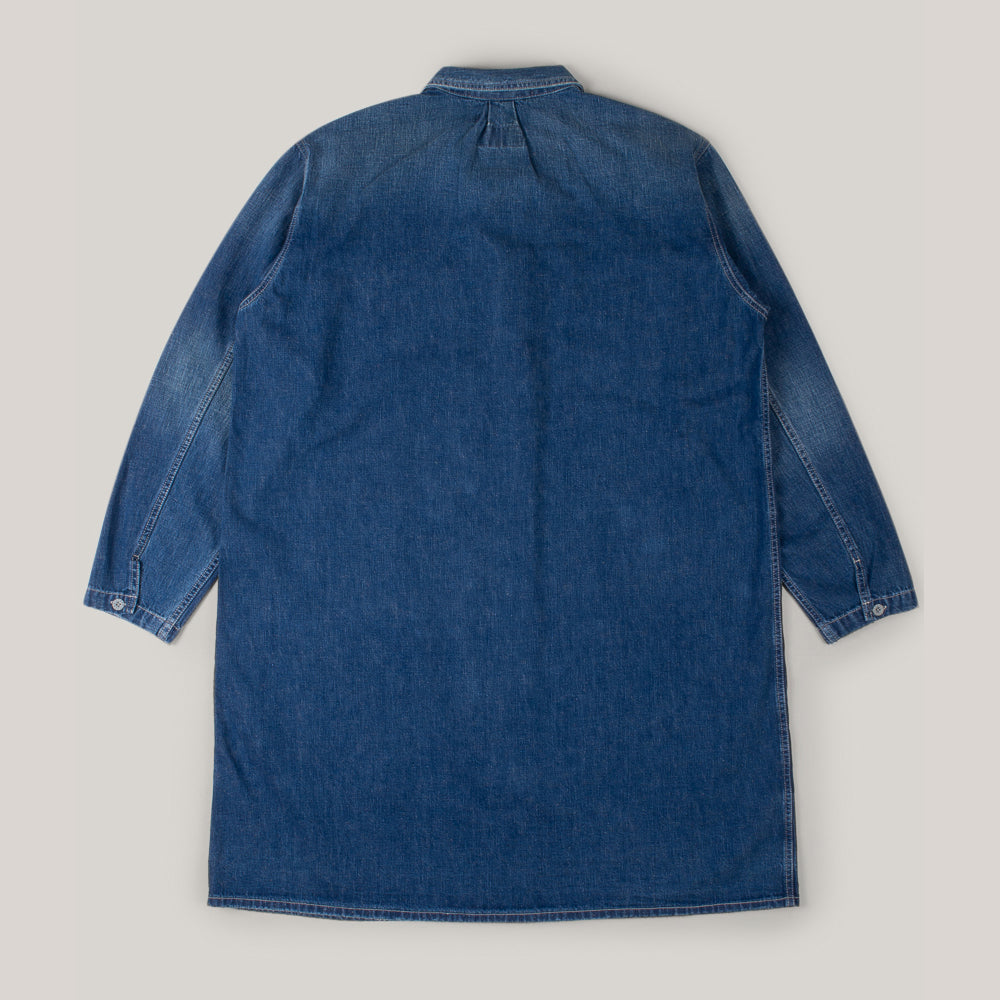 NIGEL CABOURN X LYBRO D-50W CLIMBING DENIM DRESS - WASHED BLUE