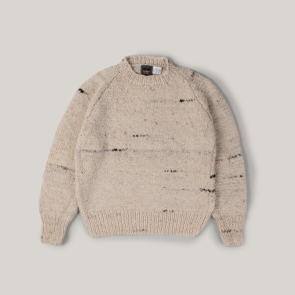 CHAMULA CREWNECK PULLOVER - NATURAL HEATHER