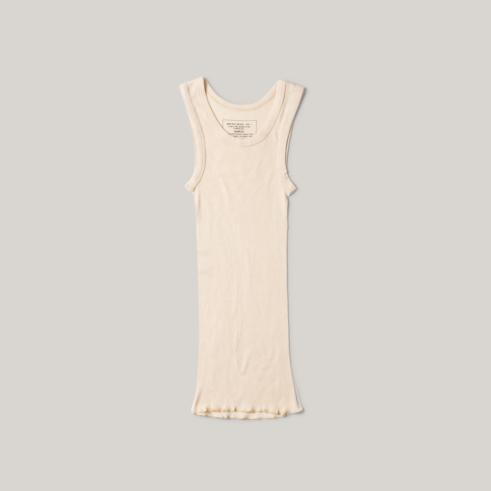 SNOW PEAK ULTIMATE PIMA RIB TANK TOP - NATURAL