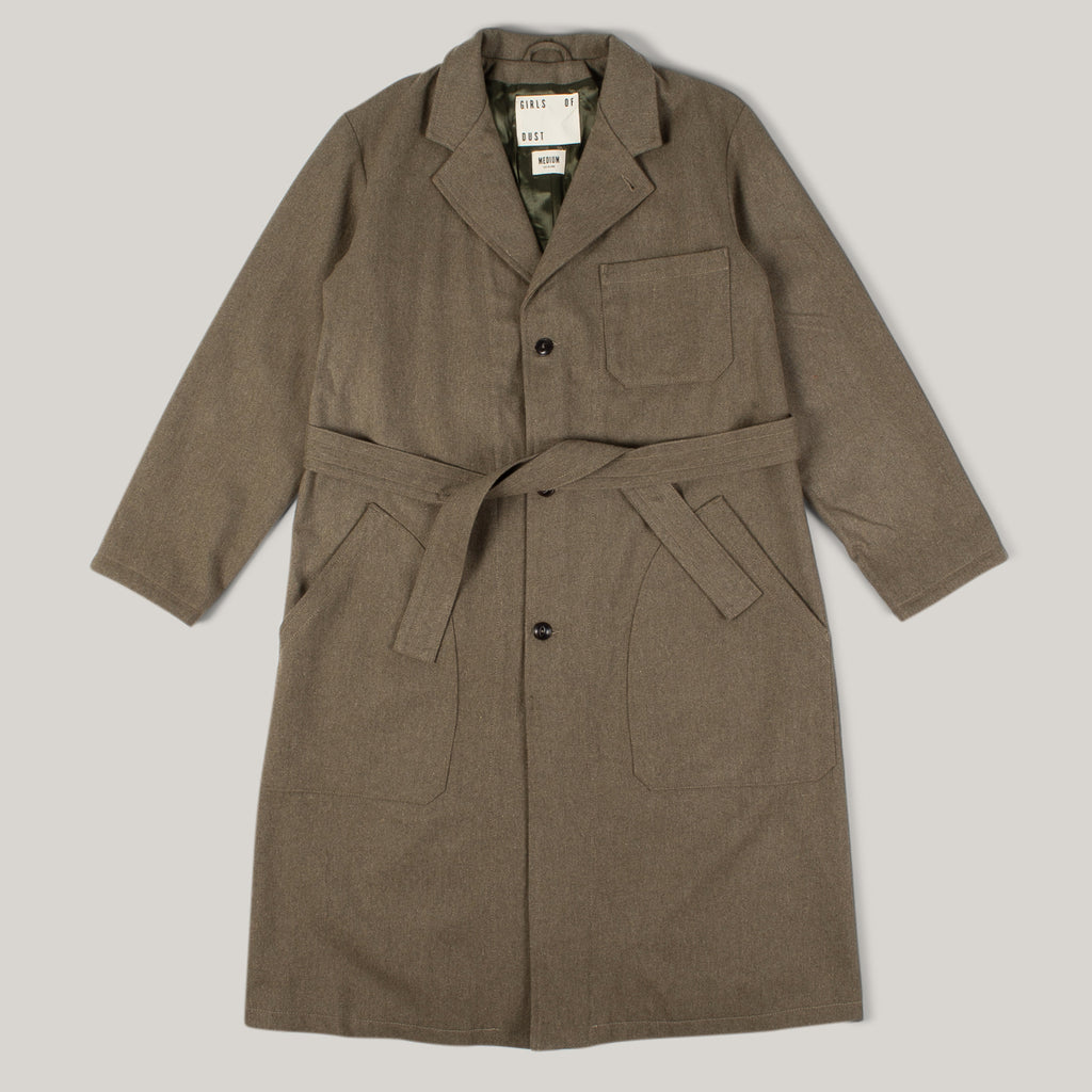GIRLS OF DUST MECHANIC COAT ELBA WOOL - KHAKI