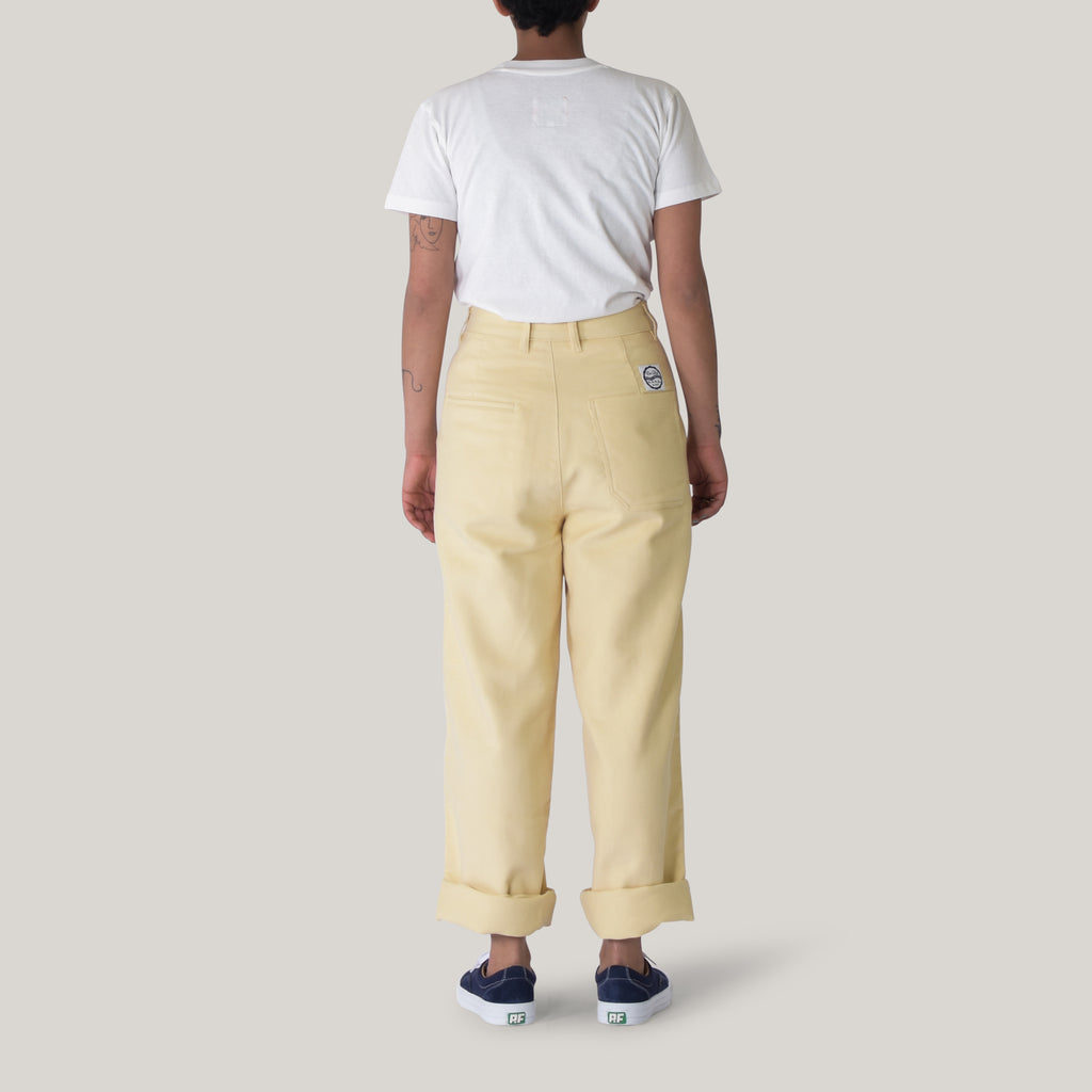 GIRLS OF DUST RENO CHINO MOLESKIN - OFF WHITE