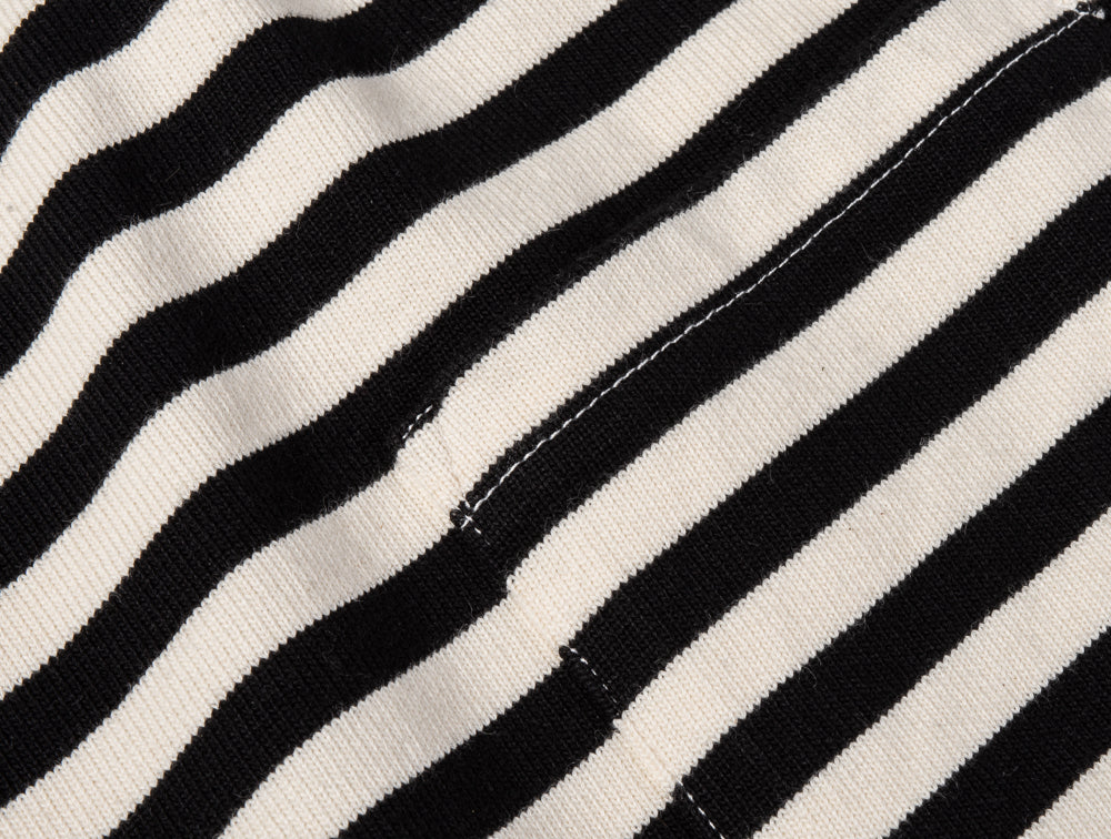GIRLS OF DUST SAILOR STRIPE TEE - BLACK & WHITE