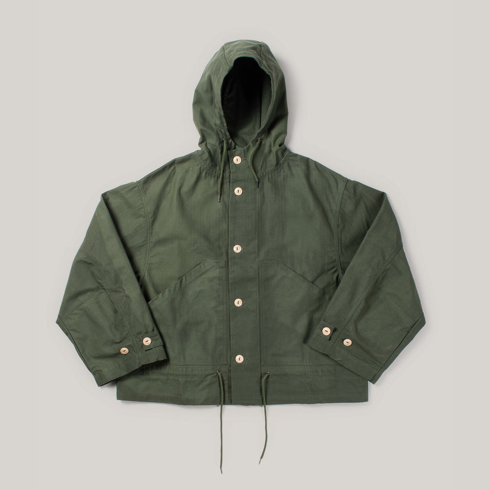 GIRLS OF DUST NUCLEAR  WAXED RAIN JACKET - RACING GREEN