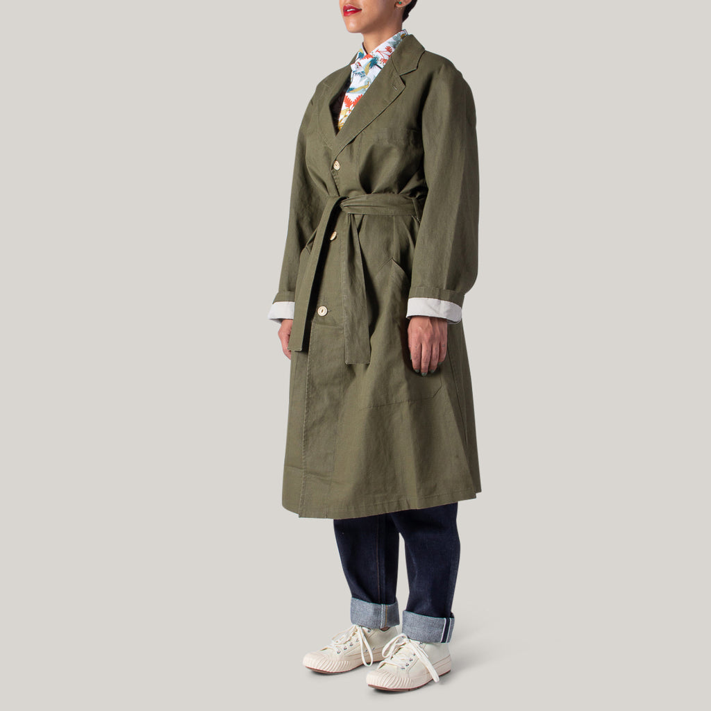 GIRLS OF DUST MECHANIC COAT NAPOLEONE - KHAKI
