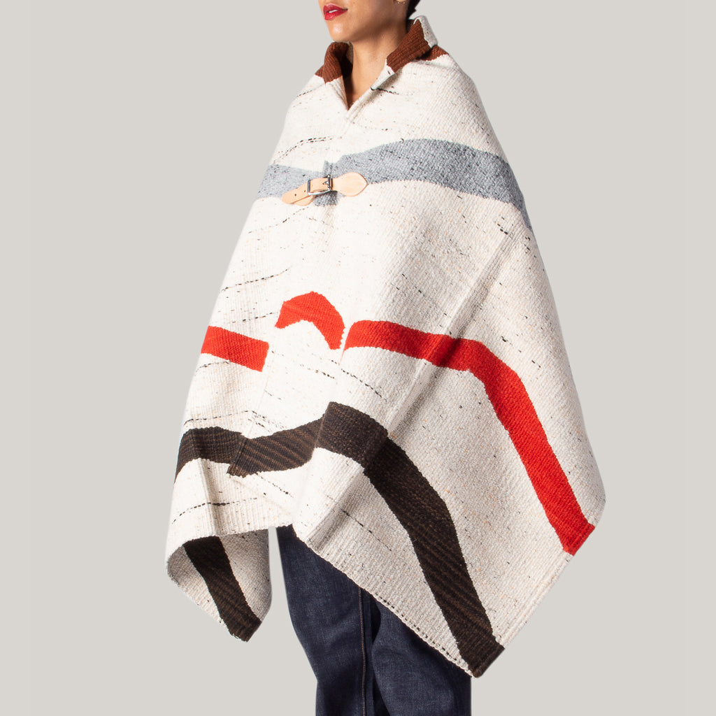 CHAMULA MERINO WOOL BLANKET - AUTUMN WAVE