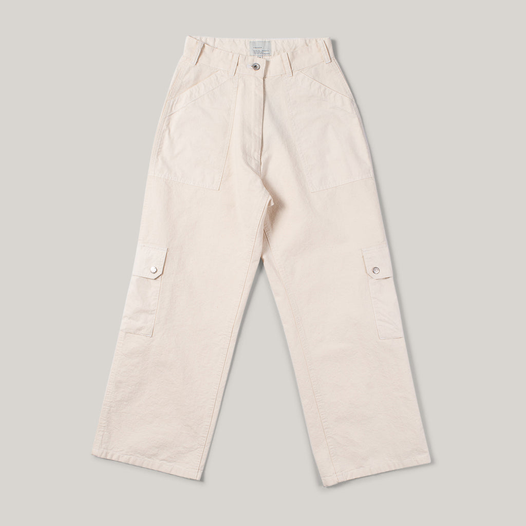 W'MENSWEAR TROPICAL COMBAT PANTS - OFF WHITE