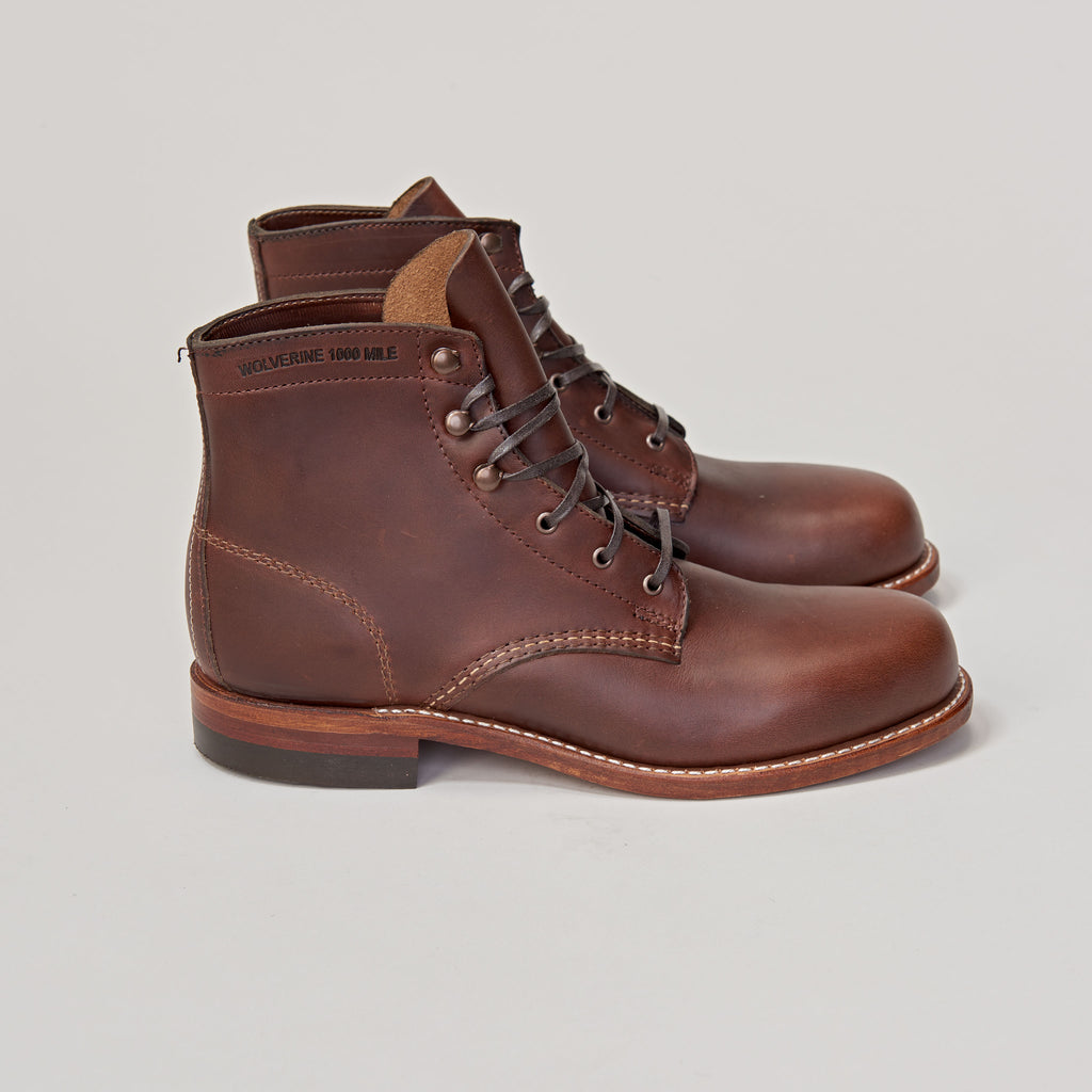 WOLVERINE 1000 MILES WOMENS - BROWN