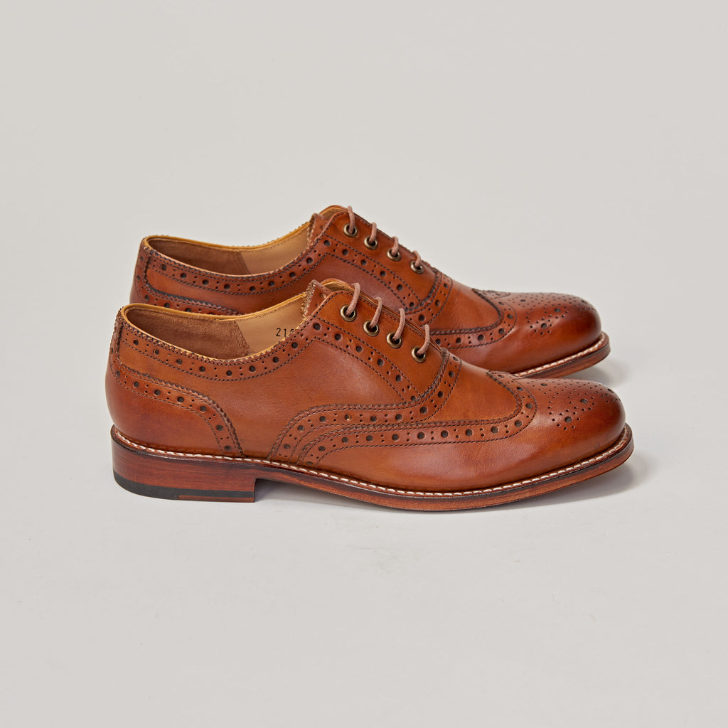 GRENSON ROSE TAN BROGUE