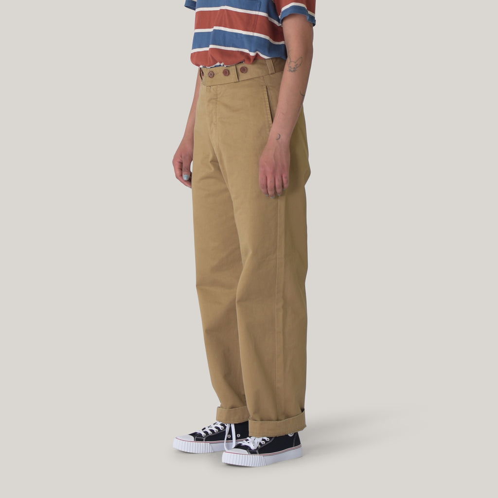 NIGEL CABOURN WOMAN MILITARY CHINO - BEIGE