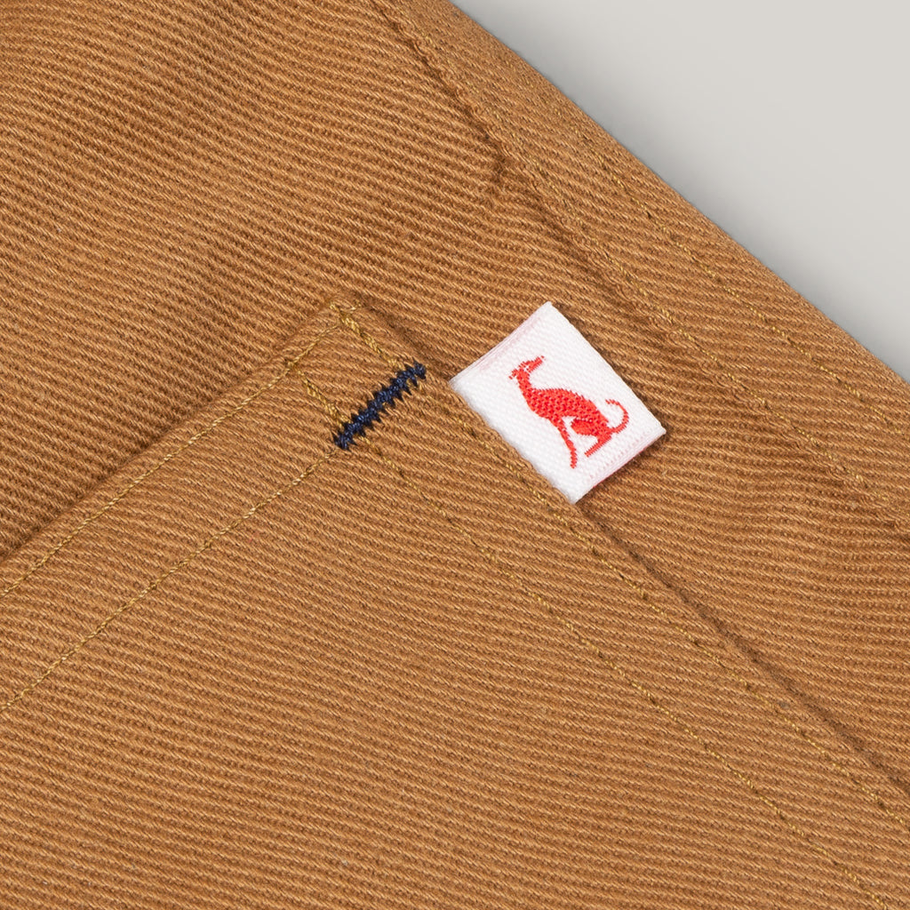 MONTY & CO. FOUNDRY JACKET - TAN COTTON TWILL