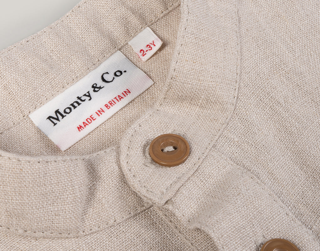 MONTY & CO. FIELD GRANDAD SHIRT - ECRU