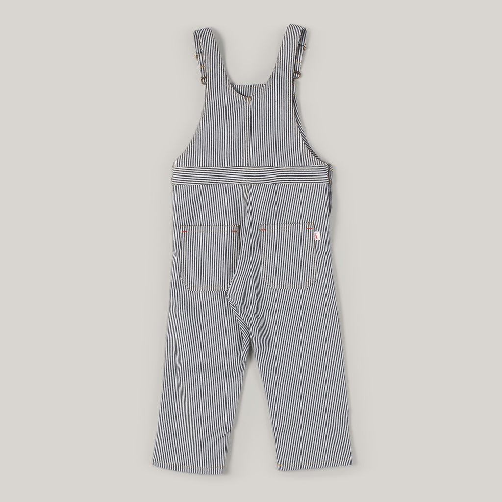 MONTY & CO. PORTER DUNGAREE - INDIGO STRIPE
