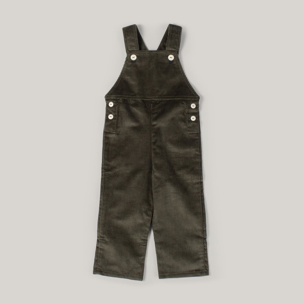 MONTY & CO. DOCKER OVERALL - OLIVE COTTON