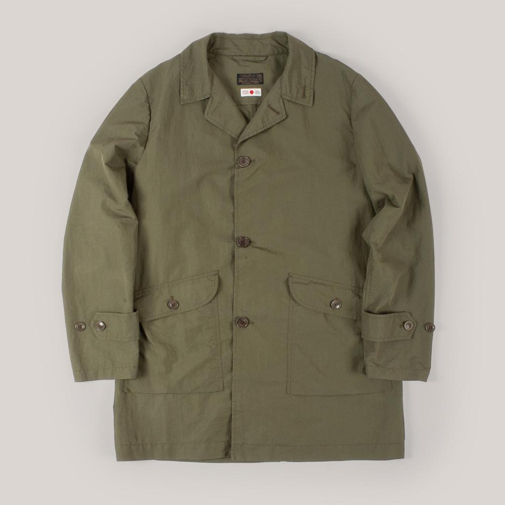 1ST PAT-RN STORM COAT - MILITARY GREEN