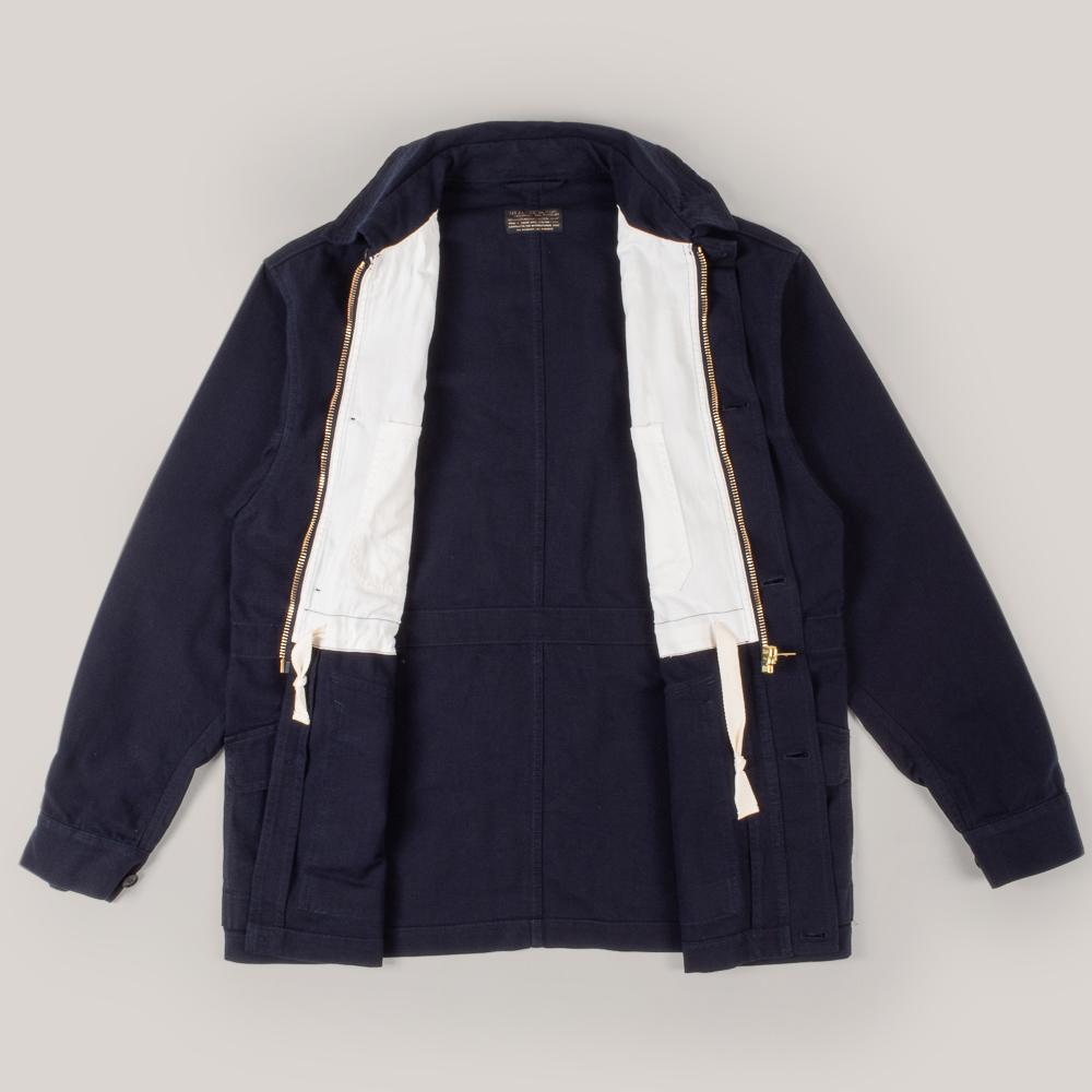 1ST PAT-RN CARRIER JACKET - NAVY SLUB REPS