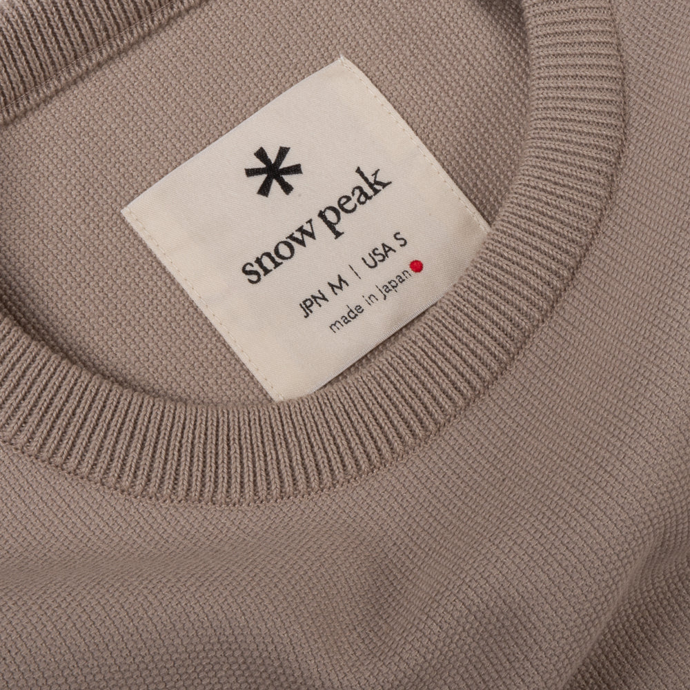 SNOW PEAK CO/PE DRY PULLOVER - BEIGE
