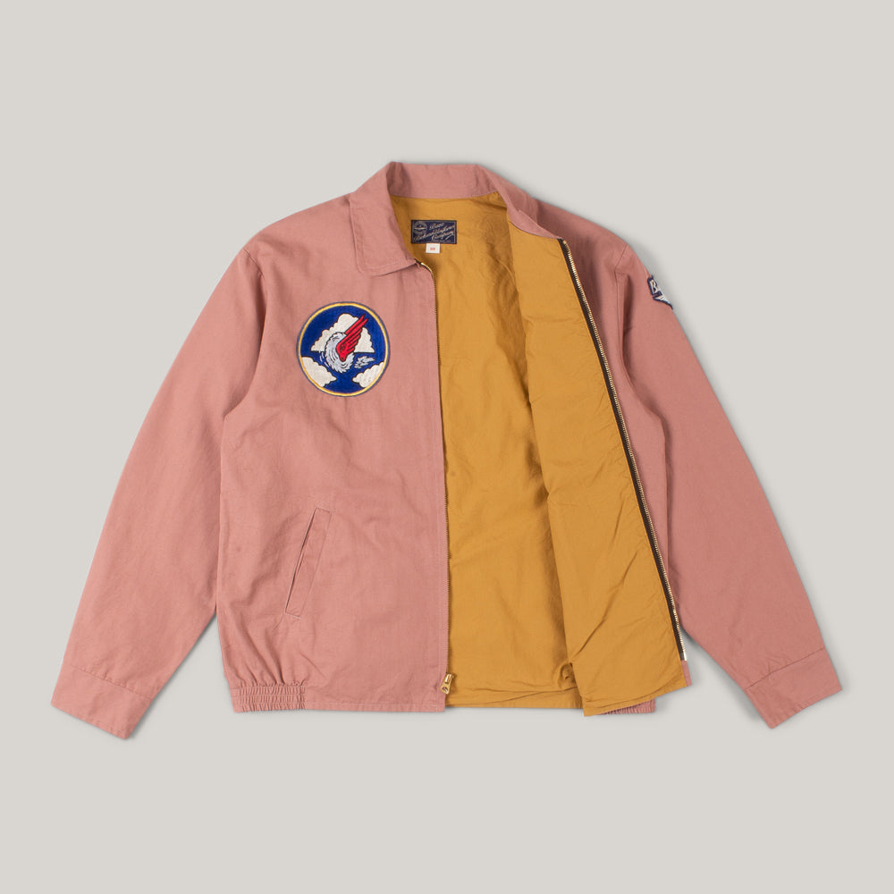 BUZZ RICKSON SNOOPY TOUR JACKET - PINK