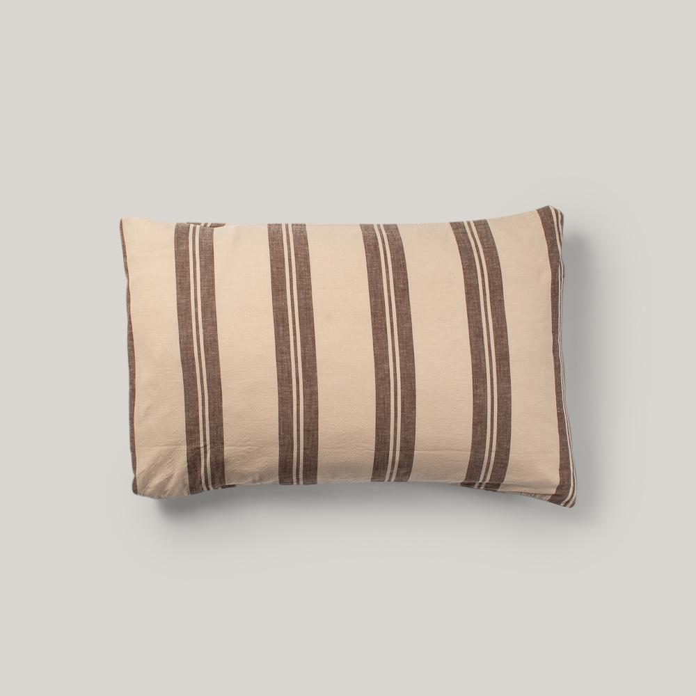 BASSHU PILLOW CASE - BROWN STRIPE