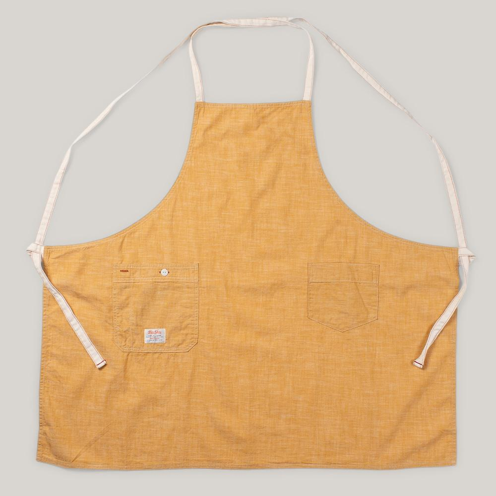 BASSHU CHAMBRAY APRON - YELLOW