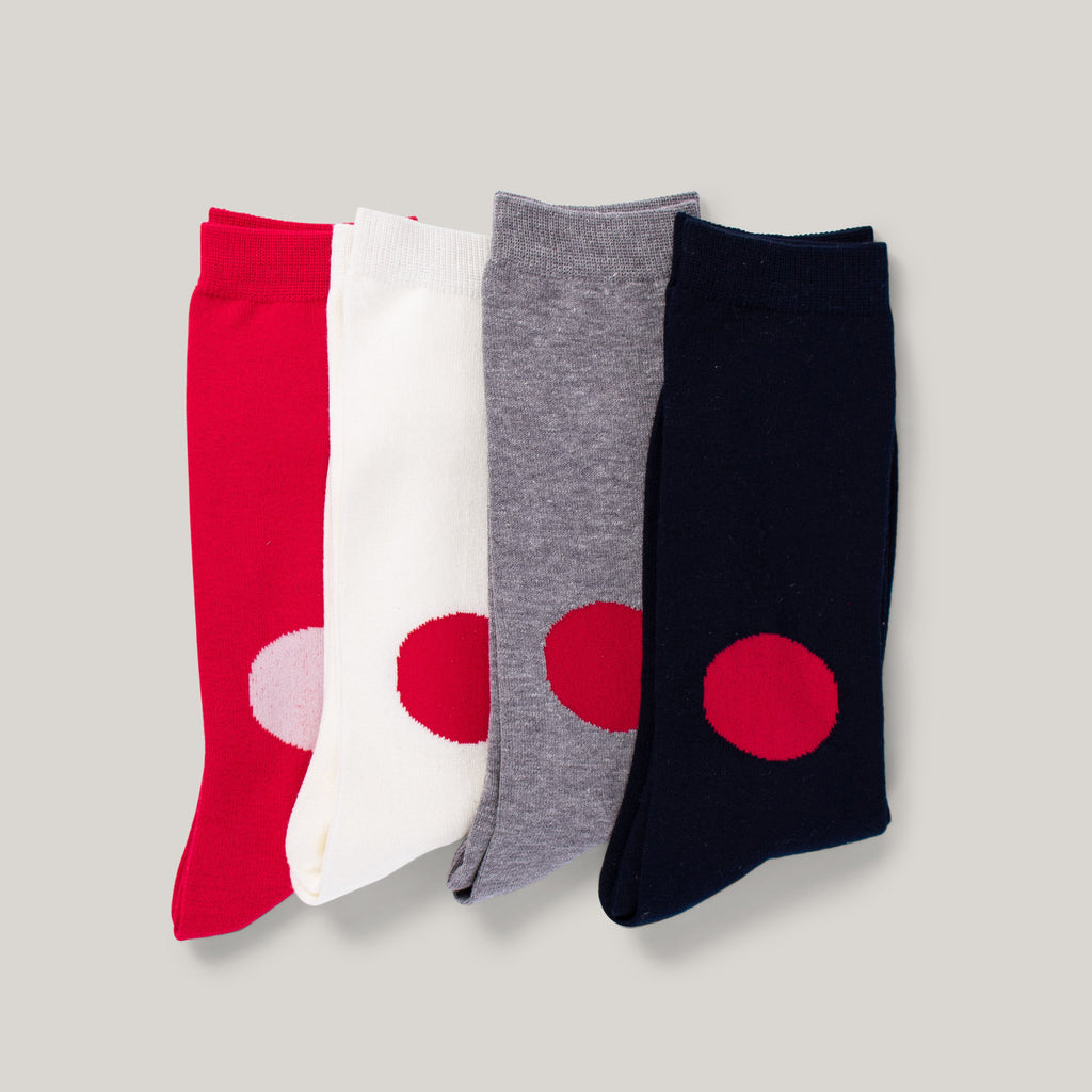 BLUE BLUE JAPAN KNITTED JAPAN FLAG SOCKS  - NAVY