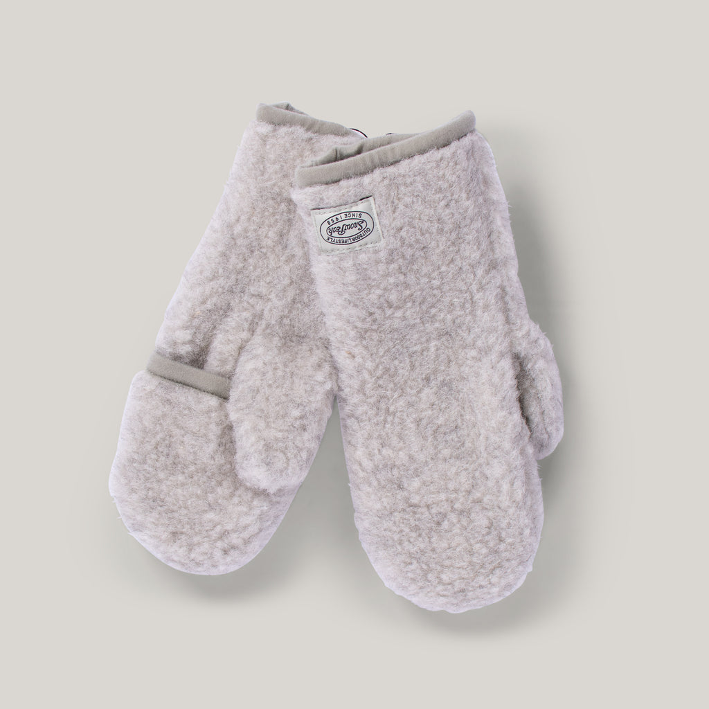 SNOW PEAK WOOL FLEECE MITTEN - WHITE