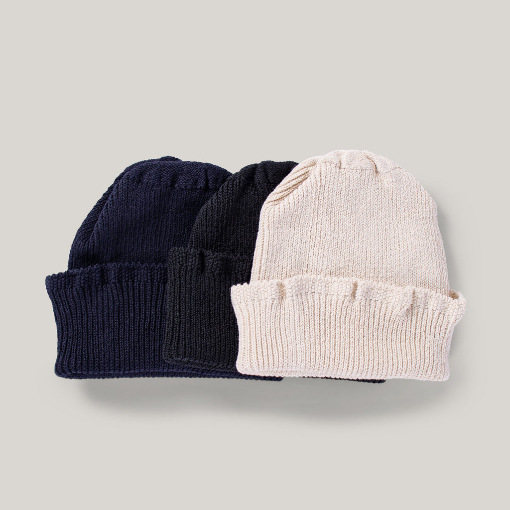 H.W. DOG & CO. COTTON LONG BEANIE - BLACK