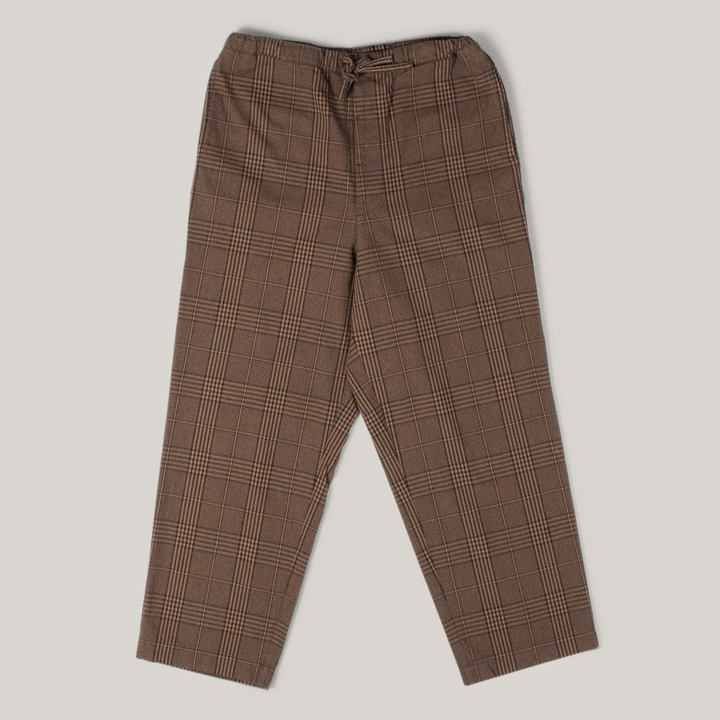 SNOW PEAK WIDE PANTS - GLEN CHECK