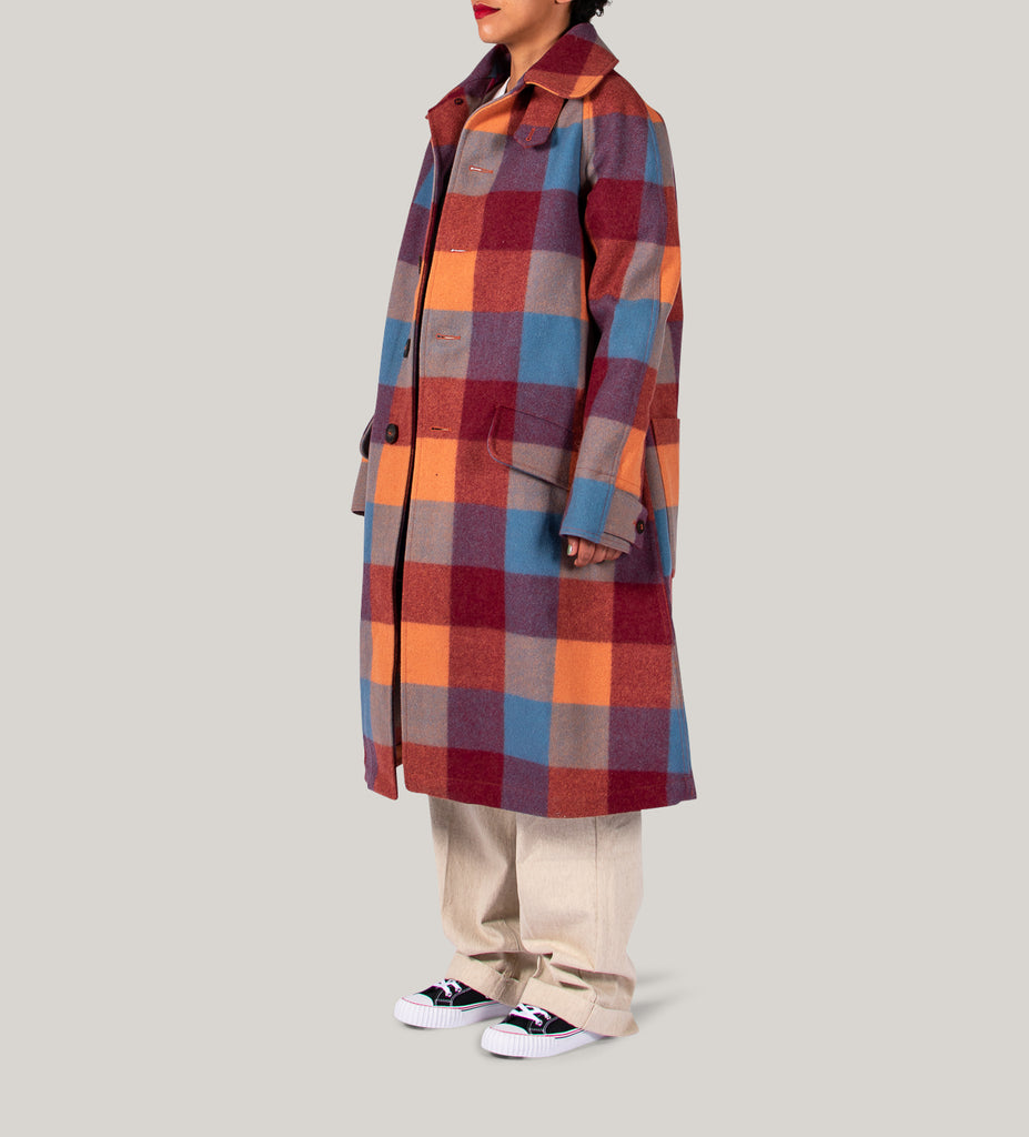 NIGEL CABOURN WOMAN NAM COAT CLASSIC - PINK CHECK