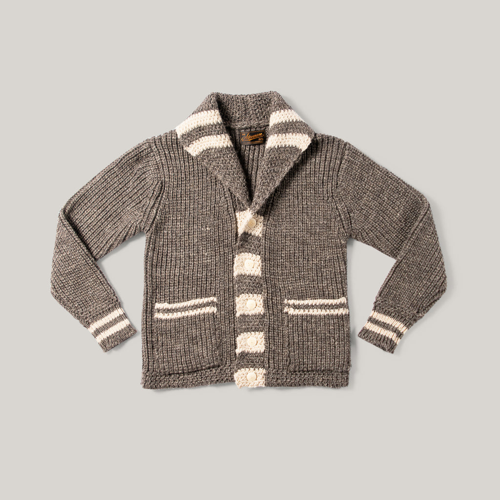 SOC SHAWL COLLAR CARDIGAN - SAND