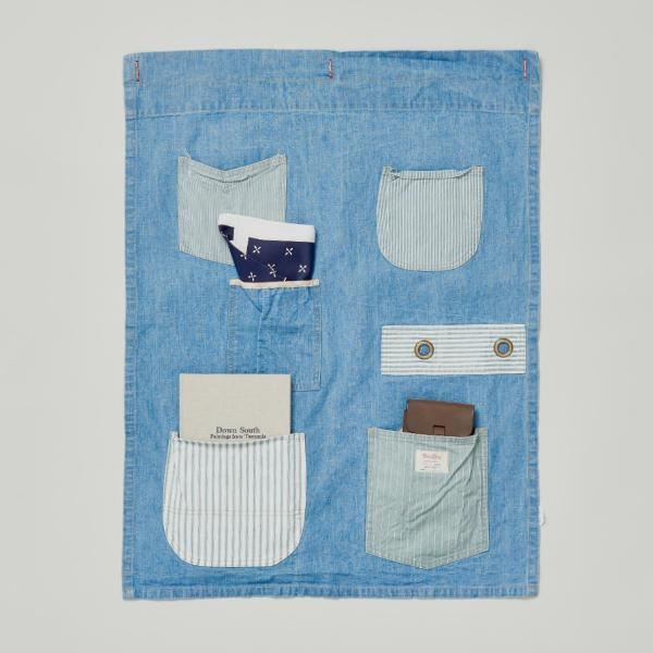 BASSHU BLUE DENIM WALL ORGANISER
