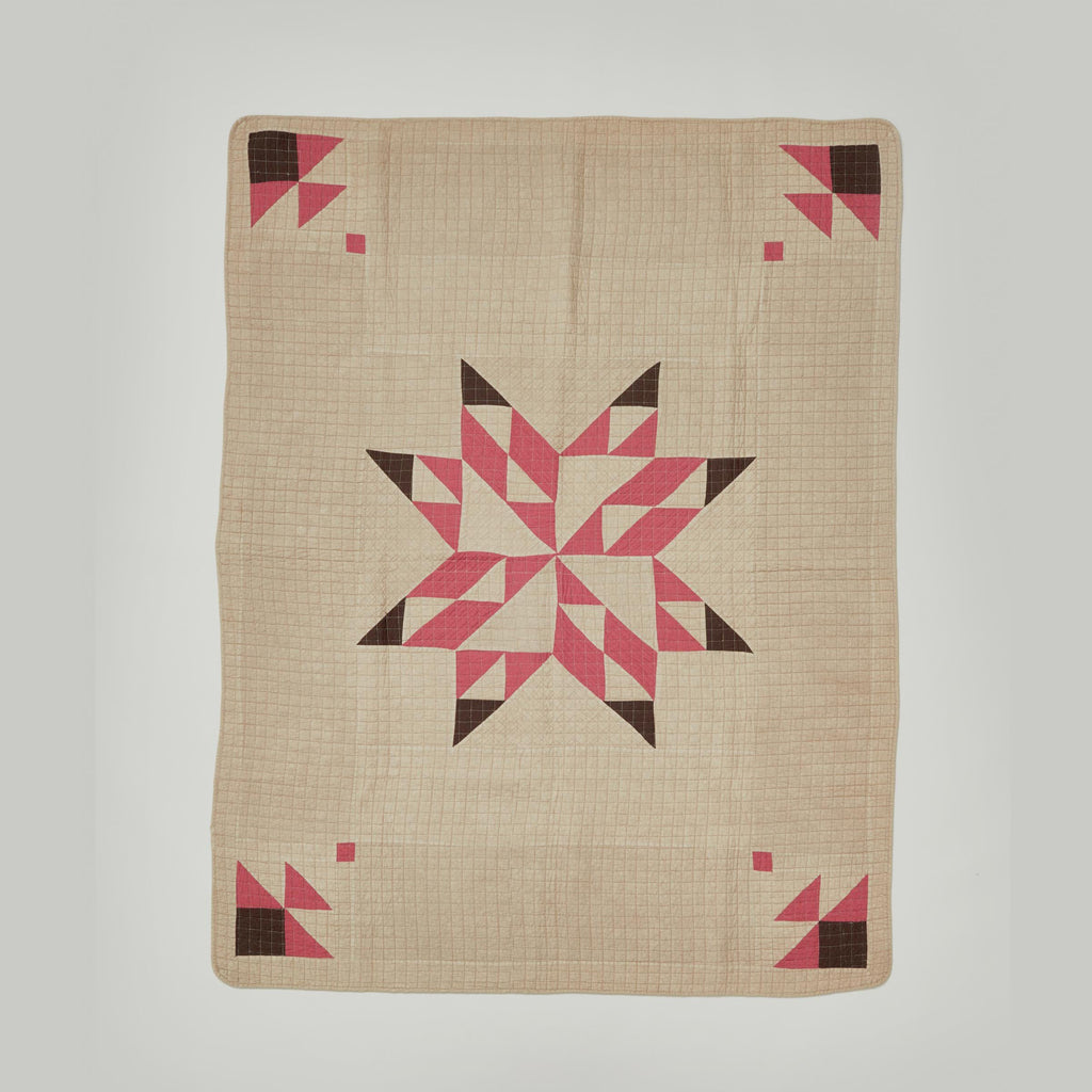 BASSHU PATCHWORK QUIT COVER - BEIGE