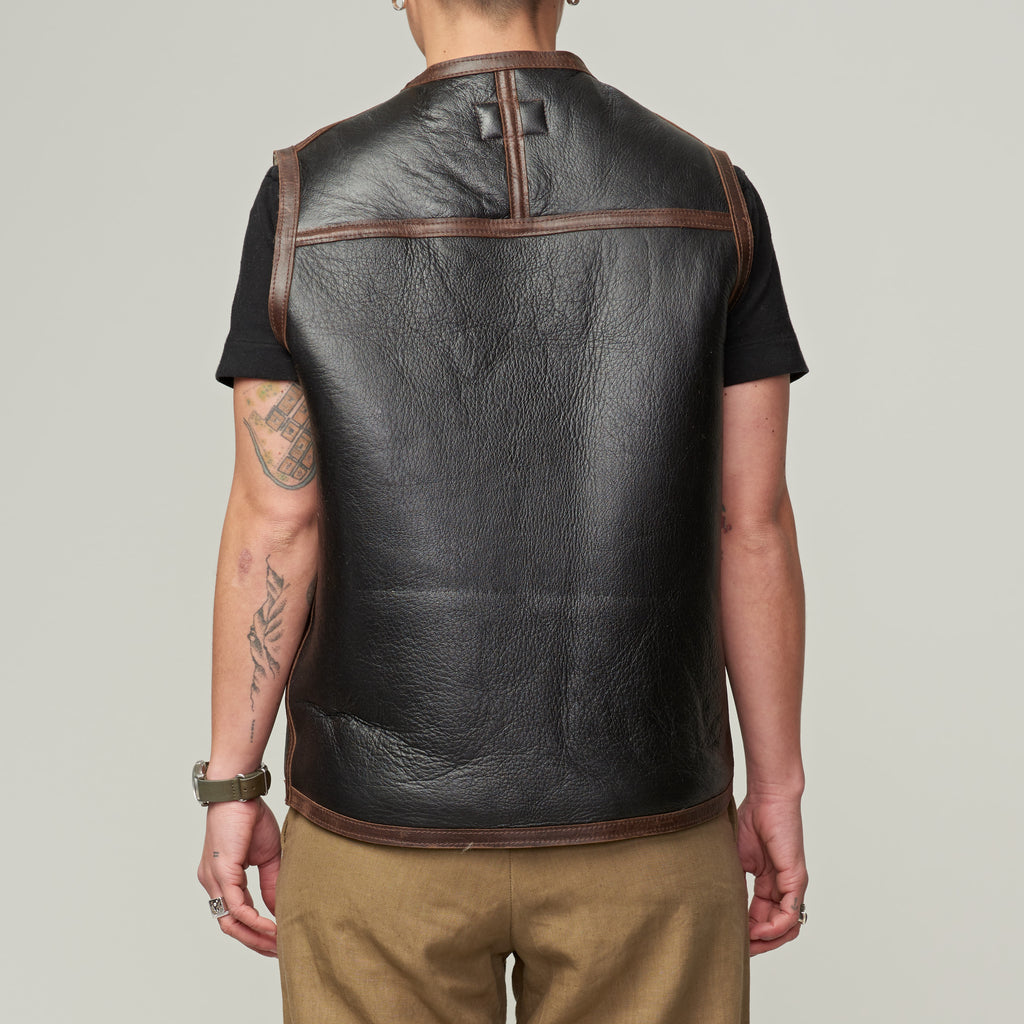 W'MENSWEAR DIGGER'S VEST - BROWN SHEARLING