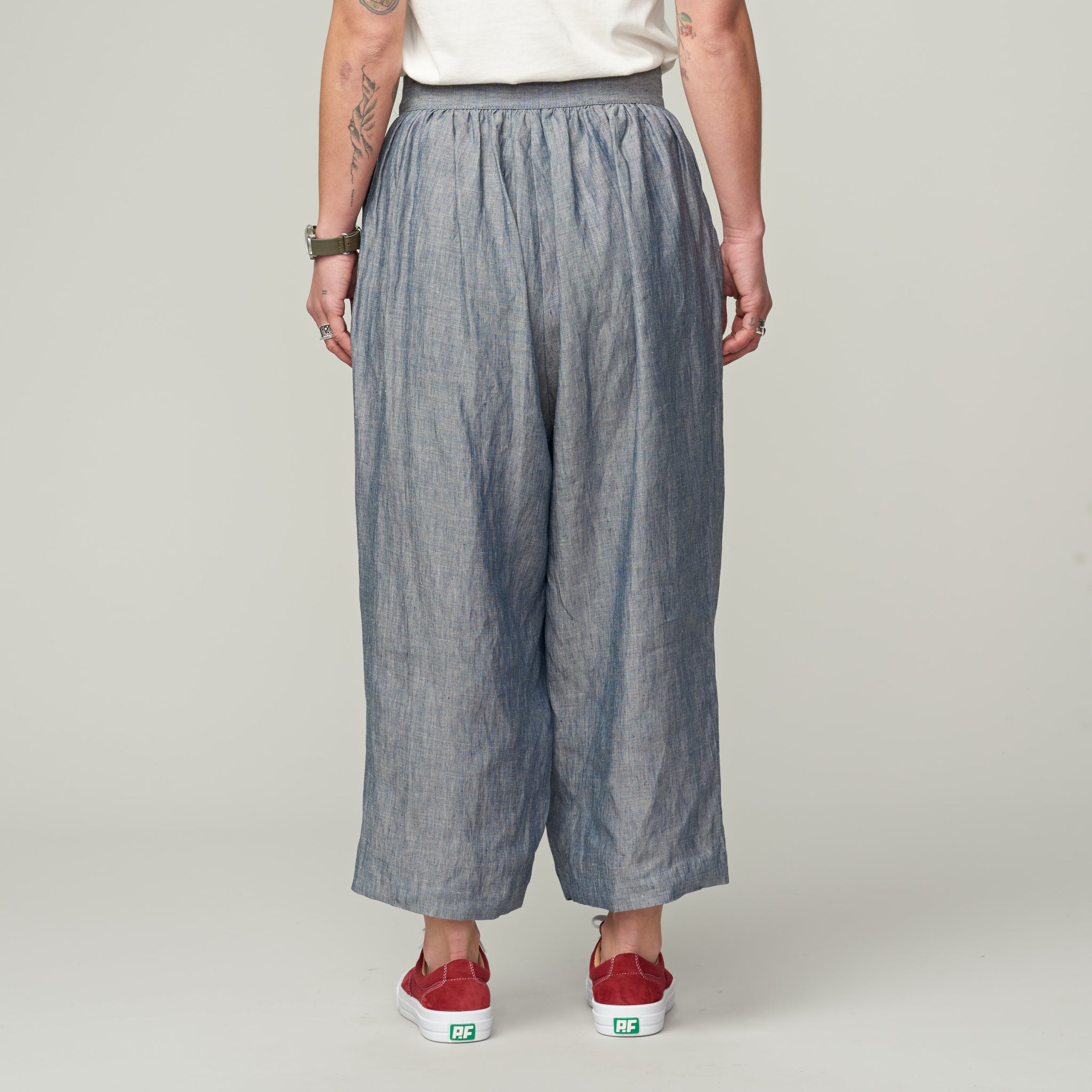 55c7159dd4db NIGEL CABOURN WOMAN - FARMER S PANT LINEN CHAMBRAY – Heffernan and Haire