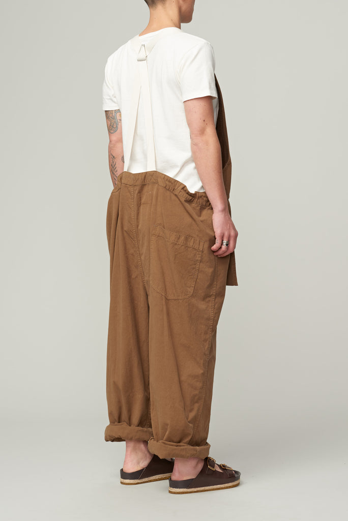 SNOW PEAK SAILOR CLOTH APRON OVERALLS - BROWN