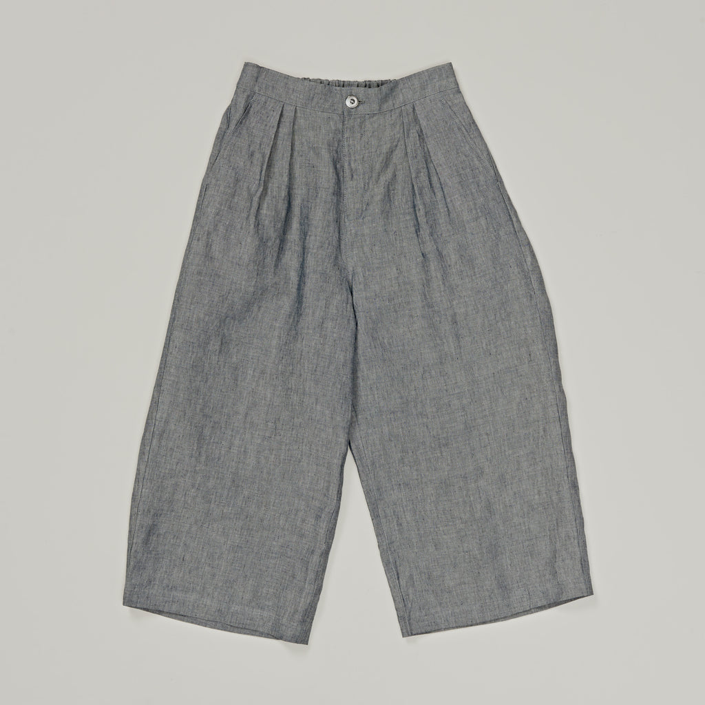 BLUE BLUE JAPAN INDIGO LINEN CHAMBRAY ELEPHANT PANTS
