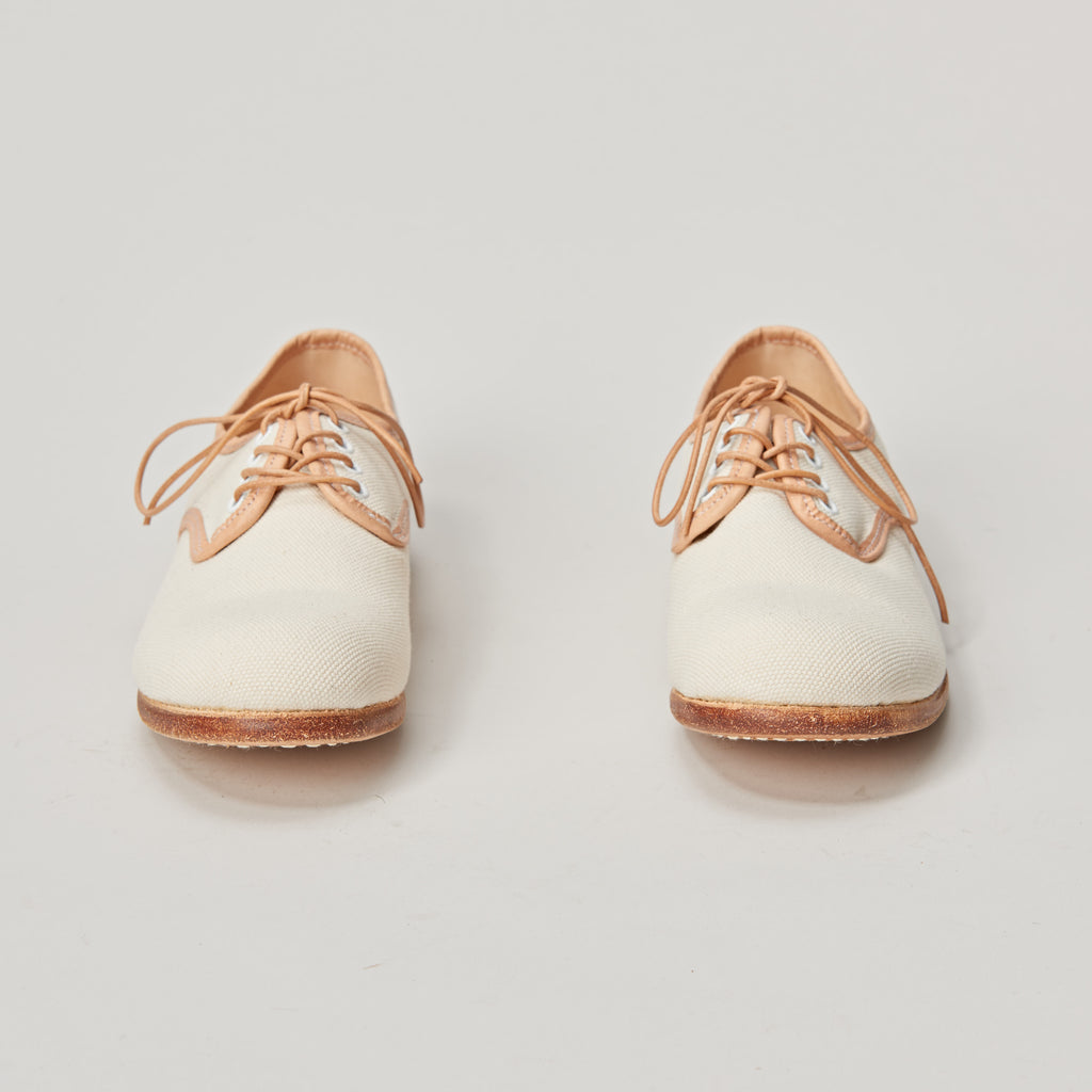 TATAMBA DERBY LACE UP CANVAS SHOE - NATURAL