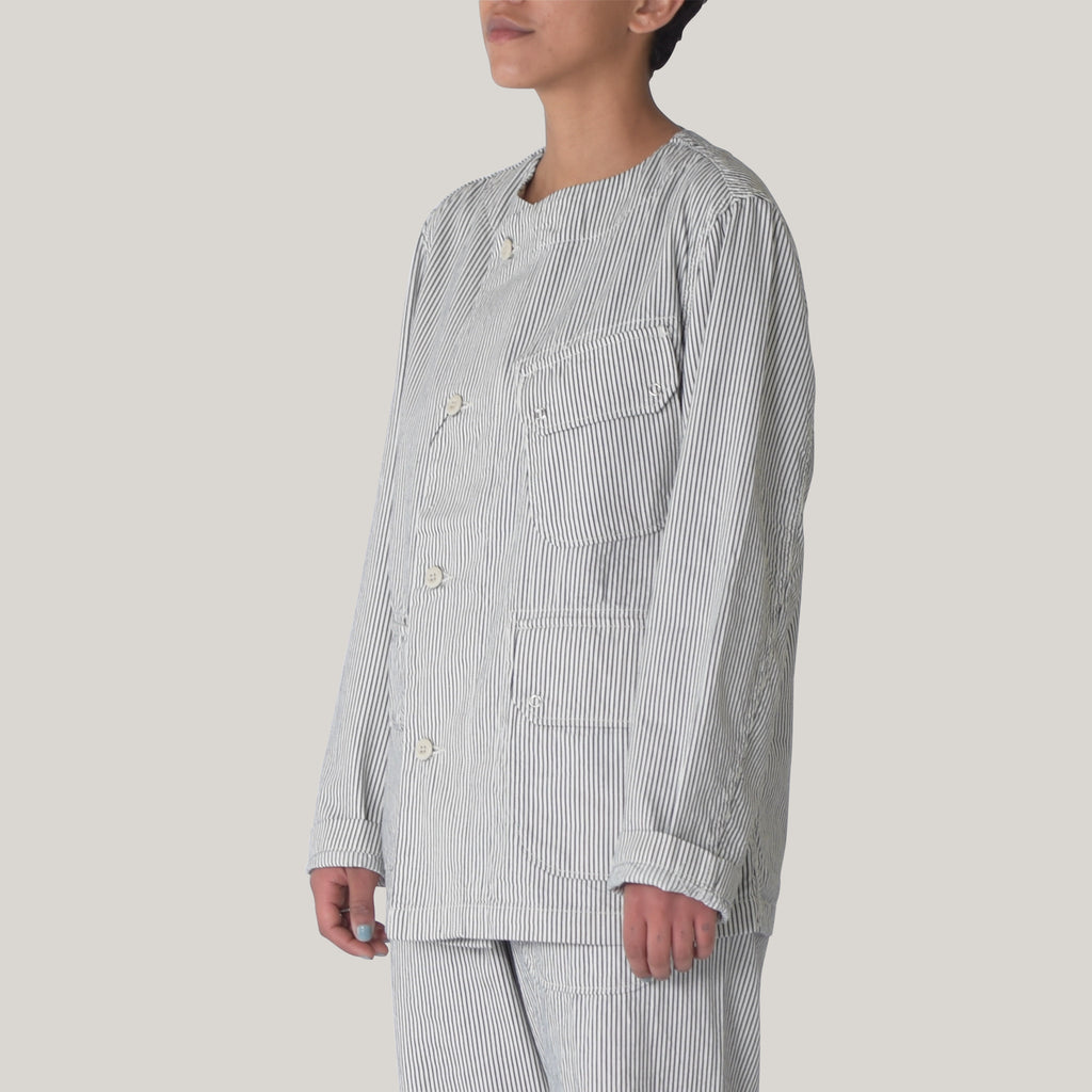 SNOW PEAK COTTON HICKORY JACKET - STRIPE