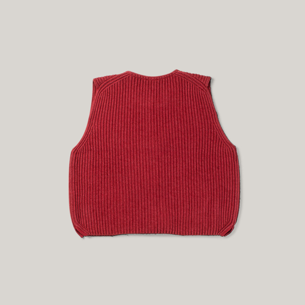 NIGEL CABOURN X CLOSED KNIT VEST - JAPANESE APRICOT