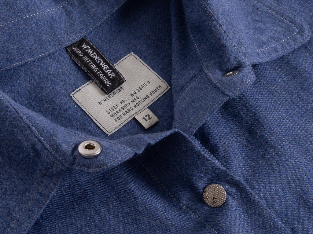 W'MENSWEAR CREW SHIRT - BLUE