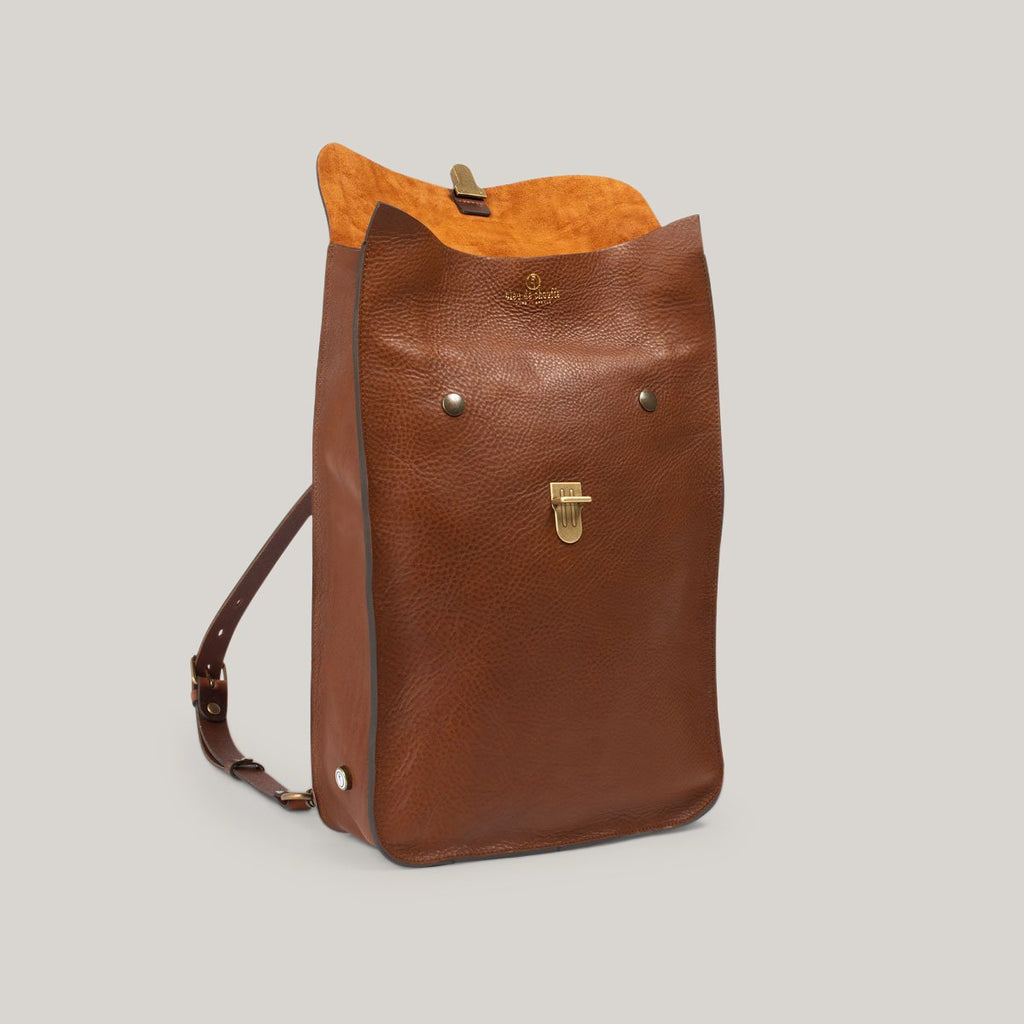 BLEU DE CHAUFFE PUNCHO LEATHER BACKPACK - CUBA LIBRE