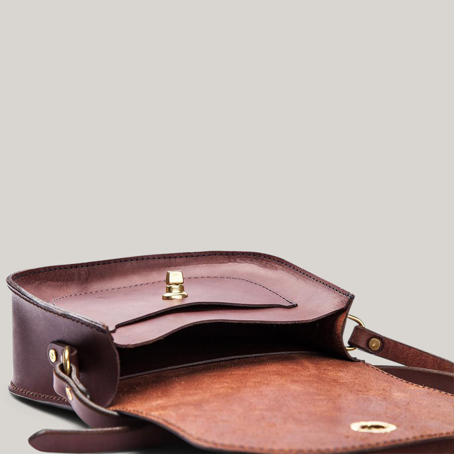 TANNER GOODS VANGUARD SADDLE BAG - COGNAC