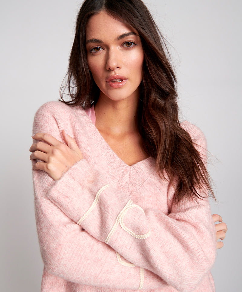 ONE TEASPOON - Off Duty Knitted Sweater (Pink)