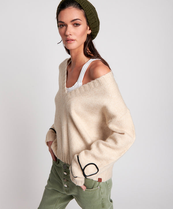 ONE TEASPOON - Off Duty Knitted Sweater (Cream)