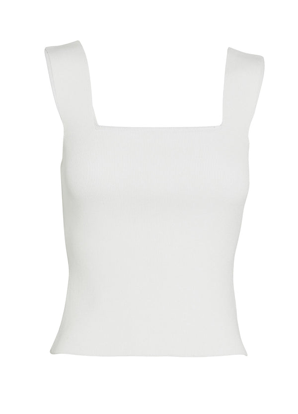 WHITE BY FTL - Becca Crepe Knit Top (White)