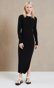BEC + BRIDGE - RIVIERA LONG SLEEVE MIDI DRESS