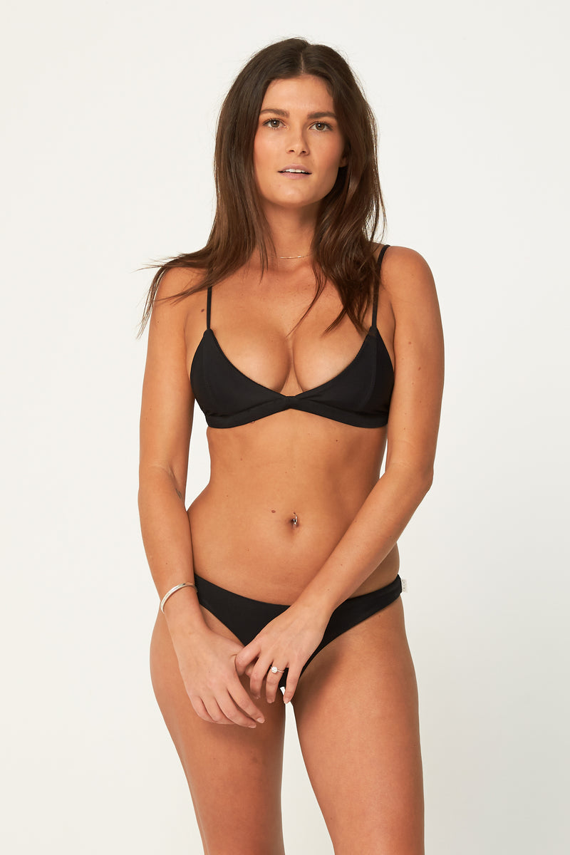 Aloe Swimwear -BILGOLA TOP IN INK