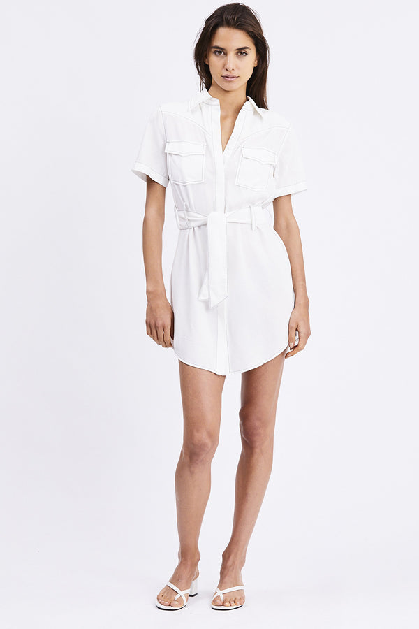 Third Form - WESTERN SHIRT DRESS | OFF WHITE