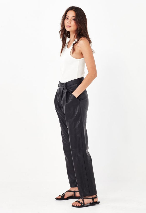 REMAIN - ARIZONA LEATHER PANT (BLACK)