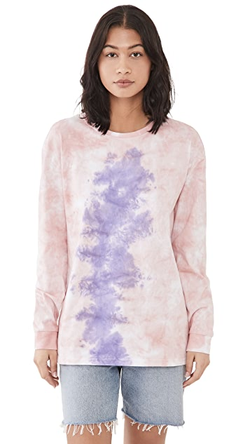 ONE TEASPOON - LILAC SMOKE TIE DYE LONGSLEEVE TEE